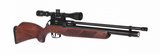 Gamo Coyote PCP Precharged Air Rifle, Silencer, Scope, Bag Pack - Beech